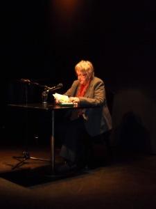Ingrid Noll in der Romanfabrik Frankfurt