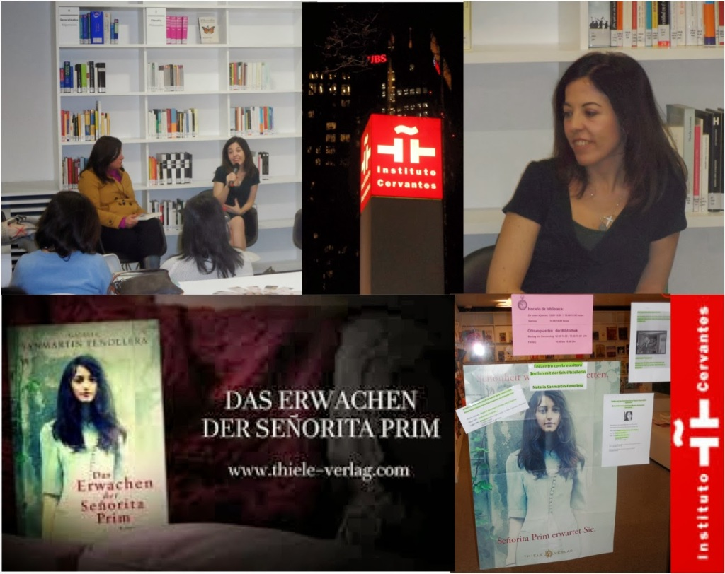 "Natalia Sanmartin Fenollera ""Das Erwachen der Señorita Prim"" Cervantes Institut Frankfurt"