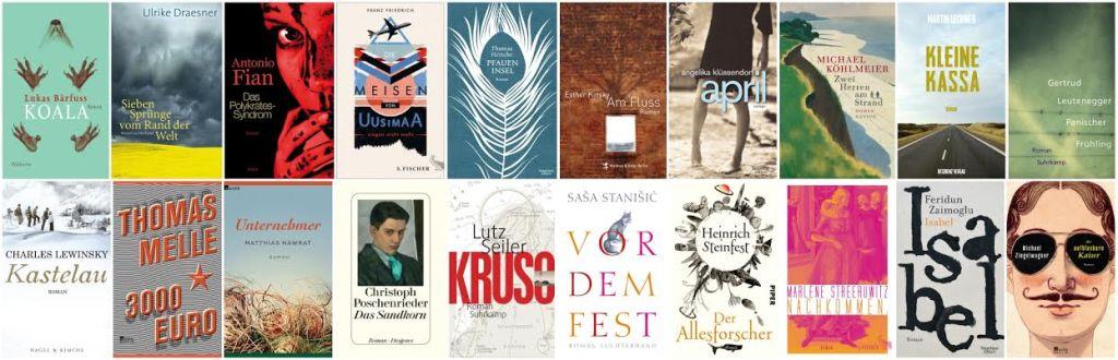 Longlist des Deutschen Buchpreises 2014