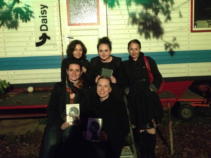 Nino Haratischwili mit masuko, der Bücherliebhaberin, der Klappentexterin und Mama Haratischwili in Frankfurt zur FBM 2014