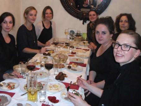 Mit Nino Haratischwili, der FVA und lieben Mitbloggern im Carmel