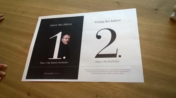 In der Werbeabteilung des Hanser Verlag
