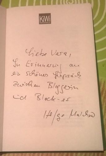 Eine persönliche Widmung von Block-er Helge Malchow