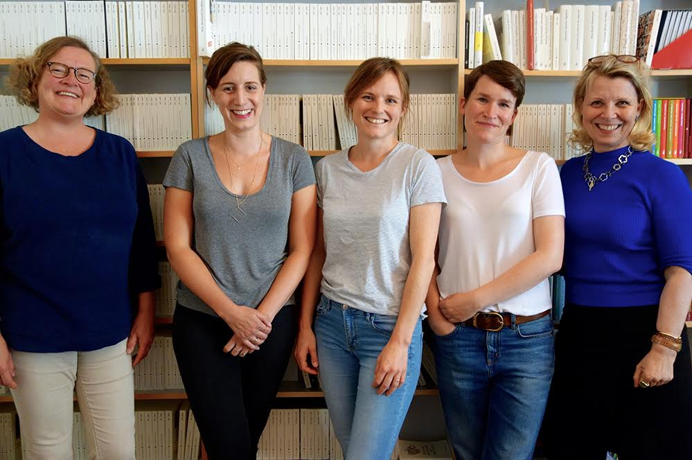 v.l.n.r. Susanne Bühler, Kerstin Beaujean, Catherine Schlumberger, Martha Schoknecht und Anna von Planta