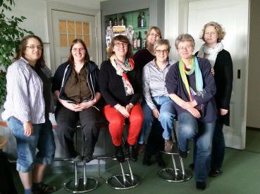 v.l.n.r.: Valeksa Henze, Jana Stahl, Britta Jürgs, Frauke Ehlers, Martha Wilhelm, Doris Hermanns, Sabine Kahl