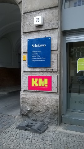 Suhrkamp Verlag in Berlin (c) glasperlenspiel13